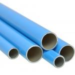 Aluminum Pipe In Blue Bar