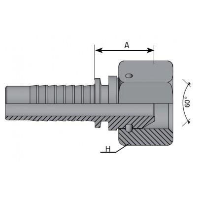 Straight Female Press Pin