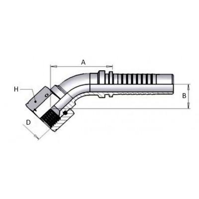 45º Elbow Press Multispiral...