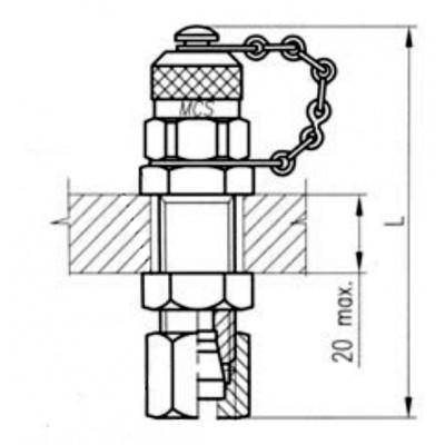 Bulkhead Adapter- Press check