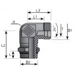 Adjustable 90º Male BSPP Elbow
