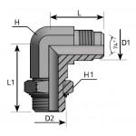 JIC 37º - Adjustable SAE...