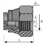 JIC Female Plug