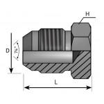 JIC 37º male plug