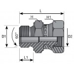 Adaptor male - swivel...