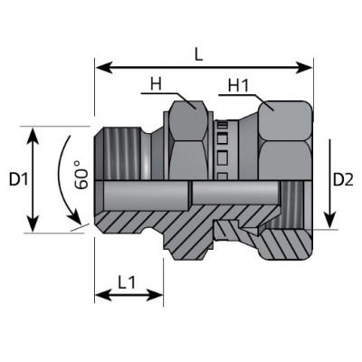 Male Adapter - Loca Nut