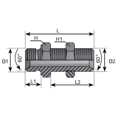 Cloison droite BSP GAS 60º