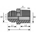 JIC Male NPT Male Adapter