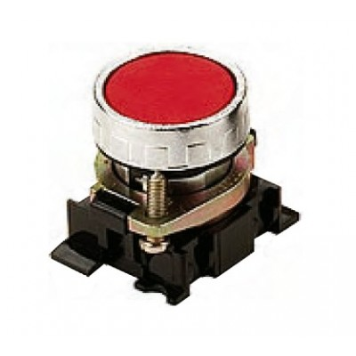 Red and black discs button