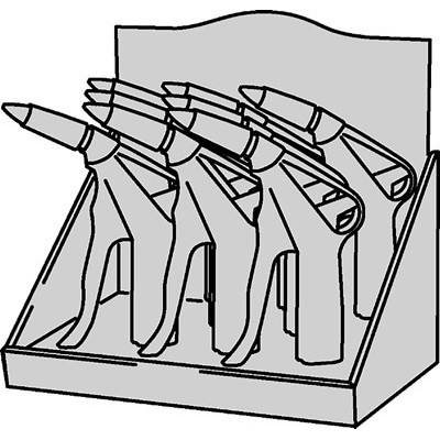 Display Of 8 MultiFLOW Guns