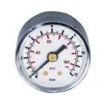 gauge with rear thread