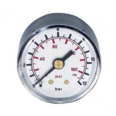 Manómetro 52mm 0-12 Bares...