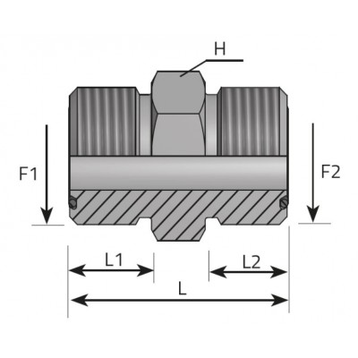 ORFS Male Male Adapter