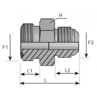 JIC Male Male Adapter