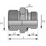 Union mâle métrique ORFS