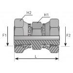 Adaptador giratório fêmea ORFS