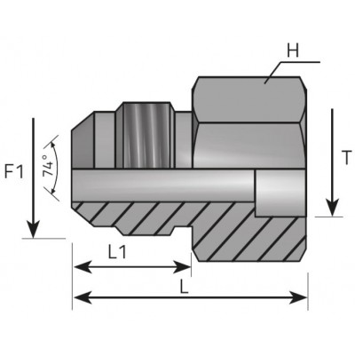 JIC Male Weld Splice