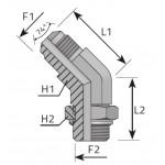 JIC 37º - adjustable BSPP...