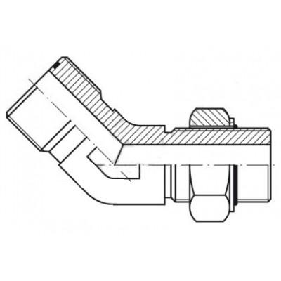 45º Elbow Male ORFS - Male...