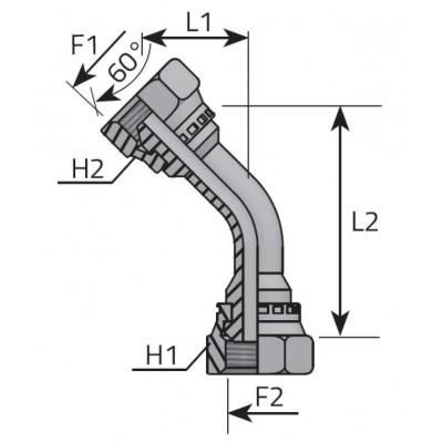 45º Accessory Loca Nut Adapter