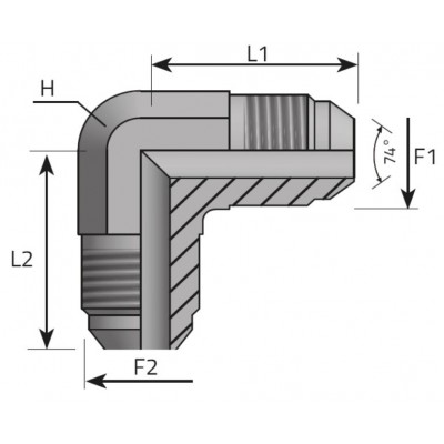 JIC 37º male elbow