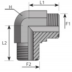 ORFS male elbow -forging-
