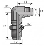 JIC 37º male bulkhead elbow