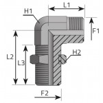 ORFS male bulkhead elbow