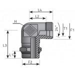 Adjustable 90º Male BSP Elbow
