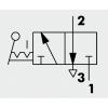 Válvula Neumática Manual Serie 70 MAV Palanca Frontal 3/2