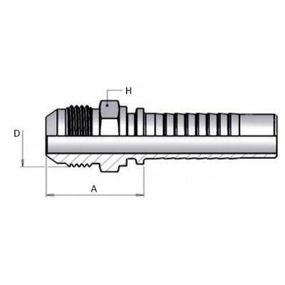 Macho Prensar Multiespiral JIC