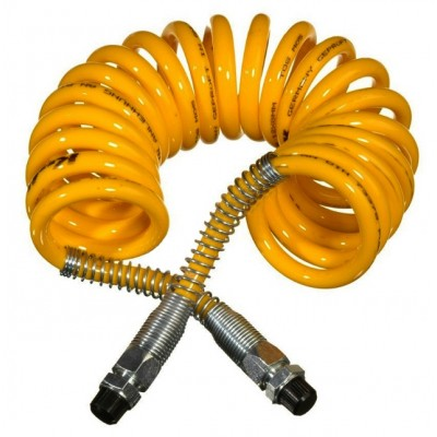 Semirreboque Em Espiral De Poliuretano Amarelo