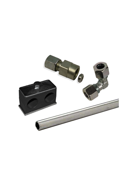Rigid Pipe, Clamps, DIN2353, JIC